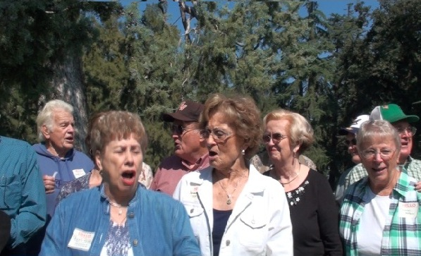 Fight Song with Jerry Swan, Peggy Serbu Johnson, Bob Line, Mary Louise Burr Akin, Mary Cruzen Line, Bob Owen, Caroline Nelson McFall, Wallace McFall