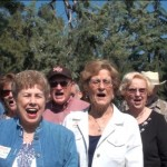 Fight Song with Joe Hannah, Jerry Swan, ...., Peggy Serbu Johnson, Bob Line, James Stapleton, Mary Louise Burr Akin, Mary Cruzen Line, Norm Lambert, Bob Owen, Caroline Nelson McFall