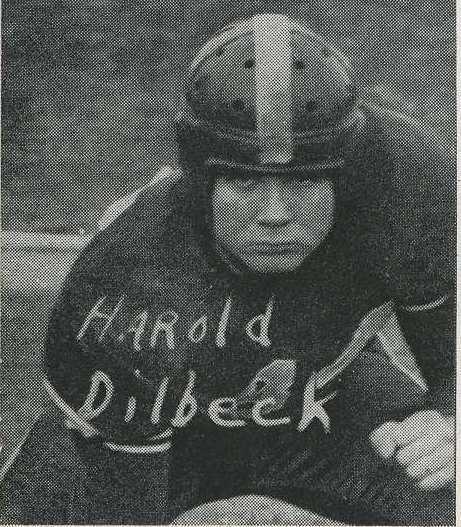 Harold Dilbeck, right tackle, all league second team